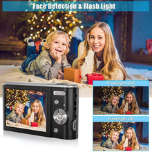 "Load image into Gallery viewer, (C710) 44MP Small Digital Camera for Photography Beginners, 2.7K Vlogging Camera 2.88"" LCD 16X Digital Zoom Rechargeable Point and Shoot Camera for Kids Teens Gift"