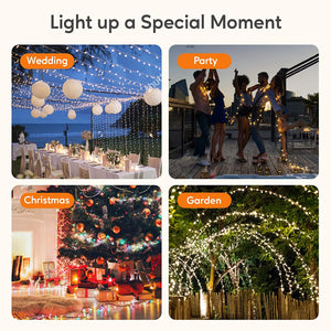 (K291)BlcTec LED Christmas Lights 99ft 300 LED Color Changing Christmas Tree Lights Warm White & Multi Color, UL Listed 11 Modes Outdoor Fairy String Lights