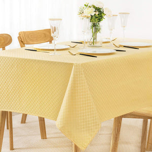 (G319)Jacquard Rectangle Table Cloth Oil-Proof Spill-Proof Wrinkle Resistant Tablecloth, Washable Polyester Fabric Heavy...