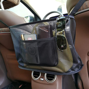 (R994)Car Net Pocket Handbag Holder, Durable Car Seat Storage and Handbag Holding Net