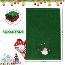 "Load image into Gallery viewer, (T702)Christmas Hand Towels Washcloths, 100% Pure Cotton Bathroom Kitchen Washcloths Towels, Basin Towels 12"" x 18"" Set of 3, Drying, Cleaning and Decor"