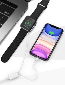 (Y844)2-in-1 Updated Watch Charger, Charging Cable Magnetic Wireless Portable Charger Charging Cable Cord Compatible for Apple Watch Series 5 4 3 2 1