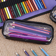 Load image into Gallery viewer, (G130)Clear PVC Zipper Pen Pencil Case,Portable Travel Toiletry Bag,Big Capacity Stationery Pencil Bag(Black an&White)