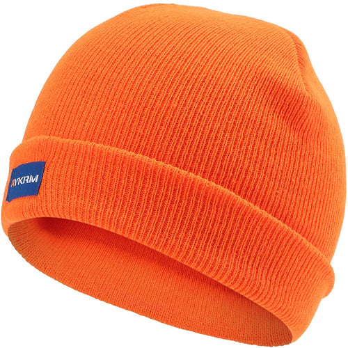 (Y631)A-SAFETY Hi Viz Skull Cap, Daily Knit Ribbed Beanie and Running Soft Cap Ultimate Thermal Retention Headwear