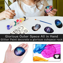 Load image into Gallery viewer, (E627)MITCIEN Galaxy Rock Painting Kit for Kids Rock Painting Arts and Craft Kit for Boys & Girls Includes 10 Smooth Rocks, 12 Paint Colors