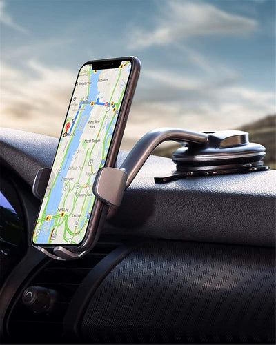(V011)AUKEY Car Phone Mount 360 Degree Rotation Dashboard Windshield Car Phone Holder Strong Suction Compatible