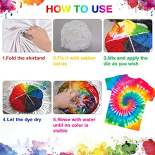 Load image into Gallery viewer, (X261)26 Colors Tie Dye Kit with Spray Nozzles, Fabric Dye Art Set for Kids Adults Permanent One-Step Tie Dye Kits