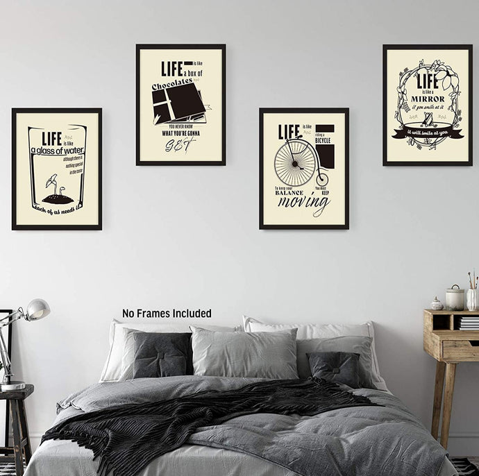 (M179)Inspirational Wall Decor Posters, Motivational Art Prints for Living Room, Bedroom and Office Aesthetic, Positive Quotes Pictures
