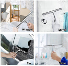 Load image into Gallery viewer, (D943)Shower Squeegee, Window Squeegee Stainless Steel 12 Inches Shower Squeegee for Shower Doors, Bathroom, Kitche,Window and Car Glass
