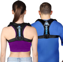 Load image into Gallery viewer, (D405)Posture Corrector for Women and Men- Perfect Adjustable Upper Back Brace for Clavicle Support and Providing Pain Relief from Neck Shoulder Upright Straightener