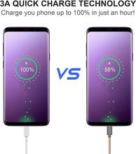 Load image into Gallery viewer, (V060)Updated USB C Cable, 3 Amps Quick Charging Type C Cable, USB A to USB C Fast Data Sync Transfer, Durable Charger Cable