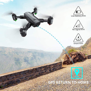 (T924)Dragon Touch DF01G Foldable GPS Drones for Adults, FPV Camera Drone HD 1080P with Background Music, Auto Return Home, Follow Me, Tap Fly, RC Drone Quadcopter