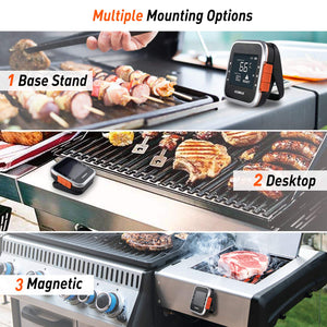 (V961)AidMax Wireless Grill Thermometer Digital 6 Probes for Meat Food BBQ Inside Smoker Oven with Bluetooth Phone App