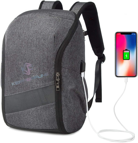 (S421)Travel Backpack, 15.6inch Business Laptop Backpacks with USB Charging Port, TSA Friendly