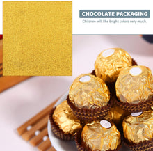 Load image into Gallery viewer, (G197) 200pcs Chocolate Candy Wrappers Aluminium Foil Paper for Party Wedding Birthday Christmas DIY Sugar Sweeties - Gold (100pcs) and purplish red (100pcs), 3.93 x 3.93 inch