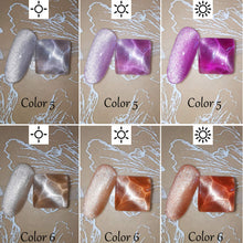 Load image into Gallery viewer, (T024) HOMOST Cat Eye Gel Nail Polish Set Color Changing Under Light, 6PCS Magnetic Gel Nail Polish Set with Magnet