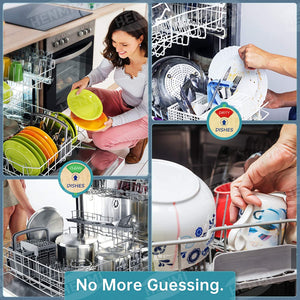 (K260)HENMI Dishwasher Sign Magnet Clean Dirty Indicator,Kitchen waterproof Non-scratch magnetic signage,Works on All Dishwashers,Easy