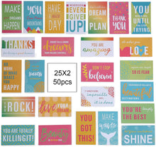 Load image into Gallery viewer, (Y100) ONEDONE Motivational Encouragement Cards Boxed Greeting Cards Assortment Box Inspirational Quote Card with Box Positive Note Cards