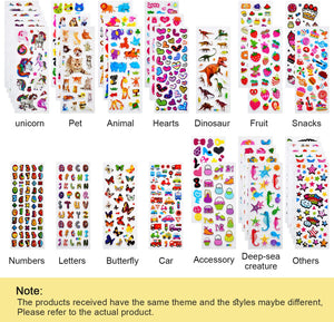 (R781)Habett Stickers for Kids Toddlers, 920 3D Puffy Kids Stickers, 36 Styles Fun Stickers for Teachers, Reward, Craft Scrapbooking Including Letter, Numbers