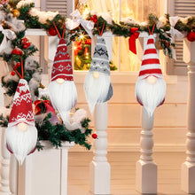 Load image into Gallery viewer, (R147)Letigo Gnome Christmas Ornaments Handmade Swedish Tomte Gnome Plush Scandinavian Santa Elf Table Decorations Hanging Gnome Christmas Tree Ornaments Home Decor