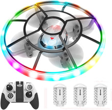 Load image into Gallery viewer, (G217)HASAKEE Q7 Mini Drone for Kids Beginners,RC Helicopter Quadcopter with Altitude Hold,Neno Light,