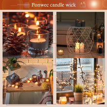 Load image into Gallery viewer, (Q301)Ponwec 300 Pieces Cotton Candle Wicks Candle Making Supplies Premium Natural Cotton DIY Candle Wick Kit