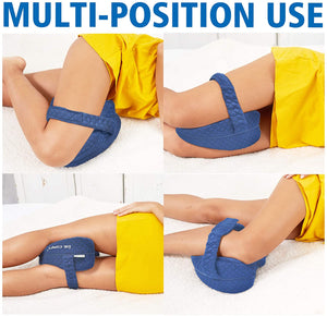 (Y977)Dr. Comfy Knee Pillow, Orthopedic Memory Foam Leg Pillow for Hip Pain Sciatica, Leg Pain, Knees Pain, Joints Pain