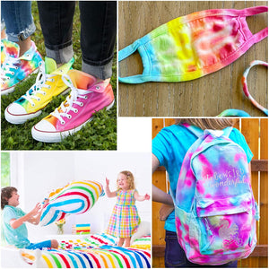 (X261)26 Colors Tie Dye Kit with Spray Nozzles, Fabric Dye Art Set for Kids Adults Permanent One-Step Tie Dye Kits