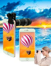 Load image into Gallery viewer, (A837) Cell Phone Camera Lens Kit,11 in 1 Universal 20x Zoom Telephoto Lens,0.63Wide Angle+15X Macro