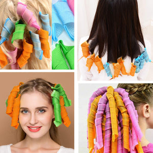 (T991)36PCS Hair Curlers Hair Rollers Spiral Curls No Heat Hair Wavers Styling Kit Wave Magic Rollers for Short Hair Long Hair Medium Hair (30cm)