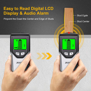 (Q503)Stud Finder Wall Scanner 5 in 1Stud Detector with Intelligent Microprocessor chip, HD LCD Display and Audio Alarm, Accurate and Fast Location