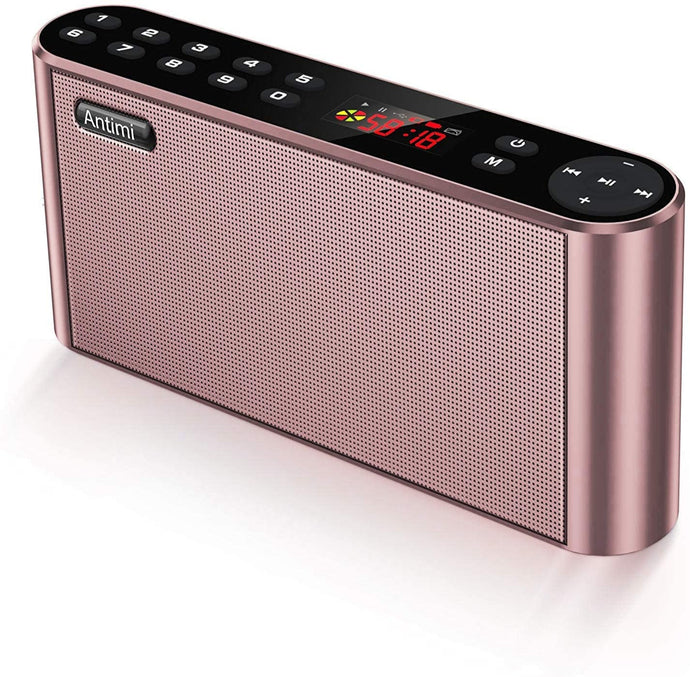 (A920)Antimi Bluetooth Speakers with FM Radio MP3 Player Stereo Portable Wireless Speaker Dual Drivers