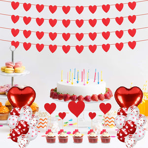 (Y782)Abodhu Valentine's Day Decorations Set, Romantic Banner Balloon Kit Valentine's Day Themed Accessories for Special Night Home Party Favors Supplies
