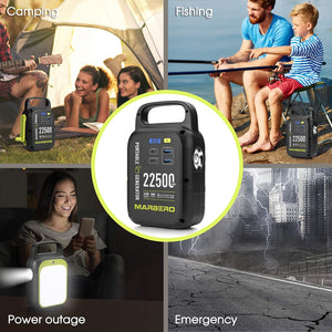 (X620)MARBERO 83.25Wh Portable Power Station, 22500mAh Lithium Battery, Power Supply with USB(QC/PD 3.0), Solar Panel...