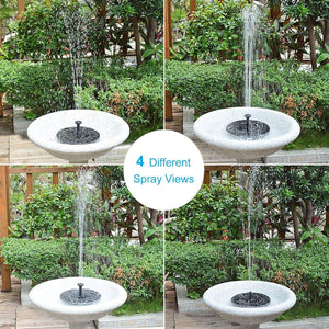 (D151) Solar Fountain for Bird Bath, Solar Powered Fountain Pump 1.5W Free Standing Floating Birdbath