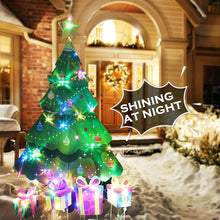 Load image into Gallery viewer, (T467)HOSKO Christmas Tree Decor, 46inch Xmas Yard Signs Stakes with String Lights, Xmas Decorations