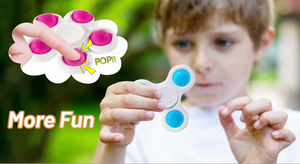 (J170)7 Pack Push Pop Pop Bubble Fidget Spinner, Simple Dimple Fidget Toy, Anxiety Relief Toys, Bubble Popping Sensory Toy, Stress Toys for Kids Adults
