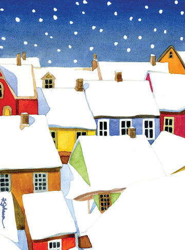 Snowy Village Christmas Boxed Cards