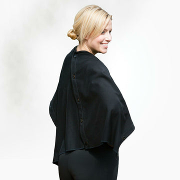 Organic Cotton Button Cape