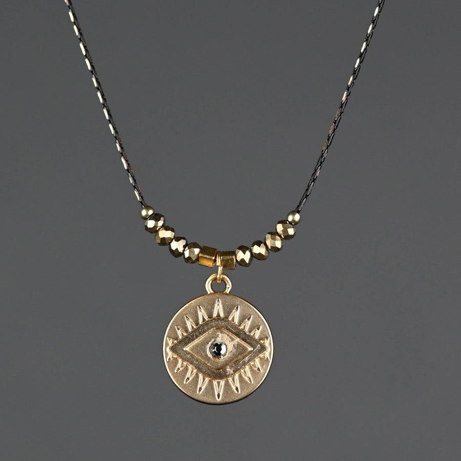Eye with Stone on Delicate Vintage Chain