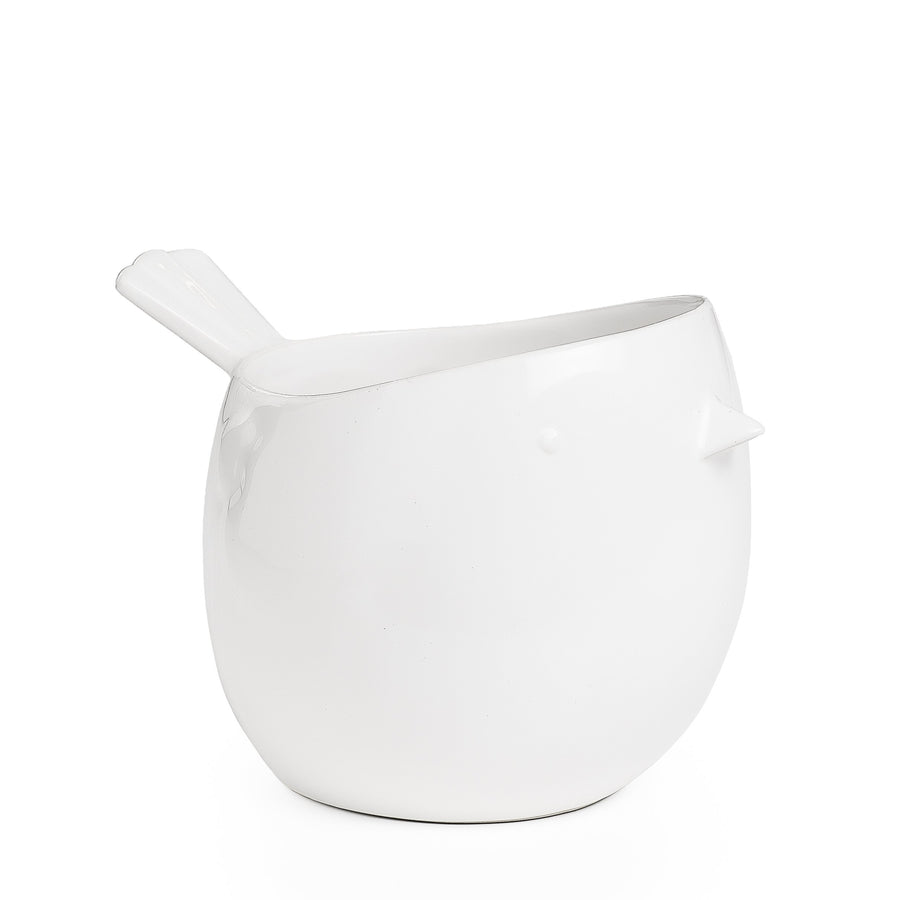 Ceramic Bird Planter White