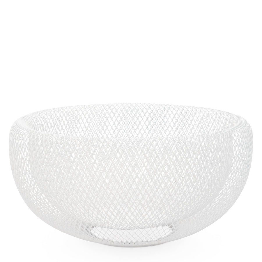 Mesh Double Wall Bowl White