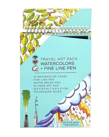 iHeart Art Travel Art Pack Watercolors and Pen