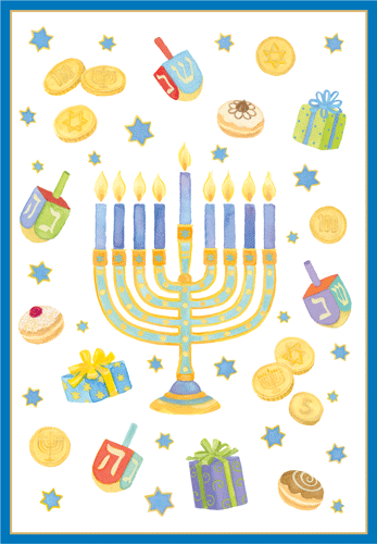 Menorah Single Hanukkah Card