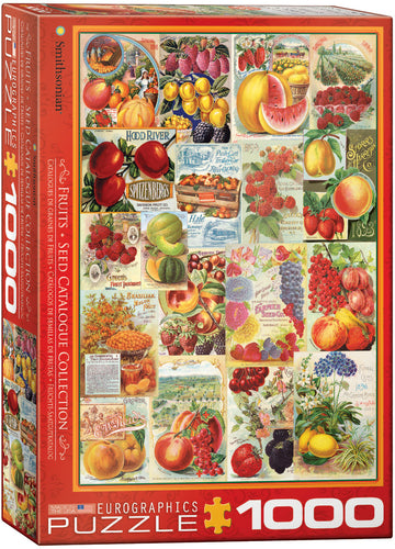 Fruits Seed Catalog Collection Puzzle