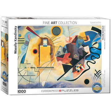 Kandinsky Yellow Red Blue Puzzle