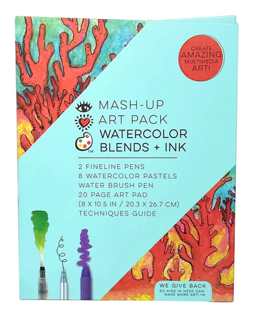 iHeart Art Mash Up Art Pack Watercolor Blends and Ink
