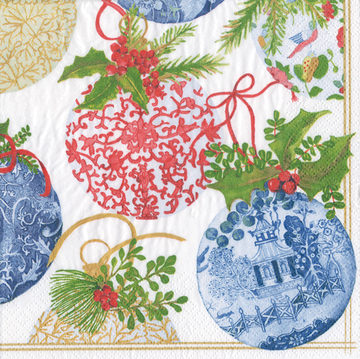 PORCELAIN ORNAMENTS Cocktail Napkins