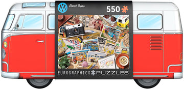 Road Trips Puzzle in VW Bus Tin
