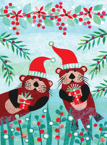 Otter Buddies Boxed Holiday Cards